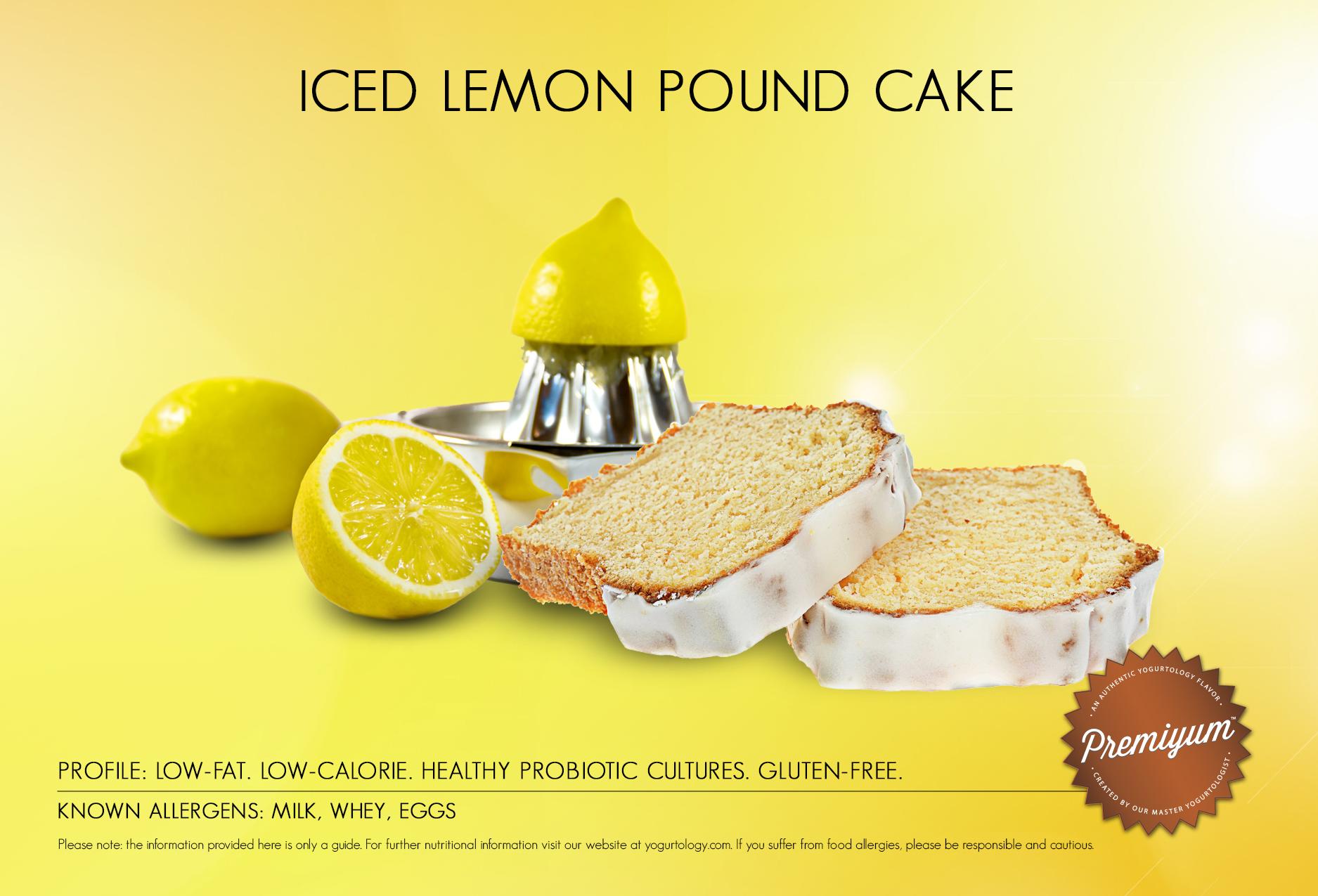Iced Lemon Pound Cake yogurt, Classic Vanilla yogurt and graham ...