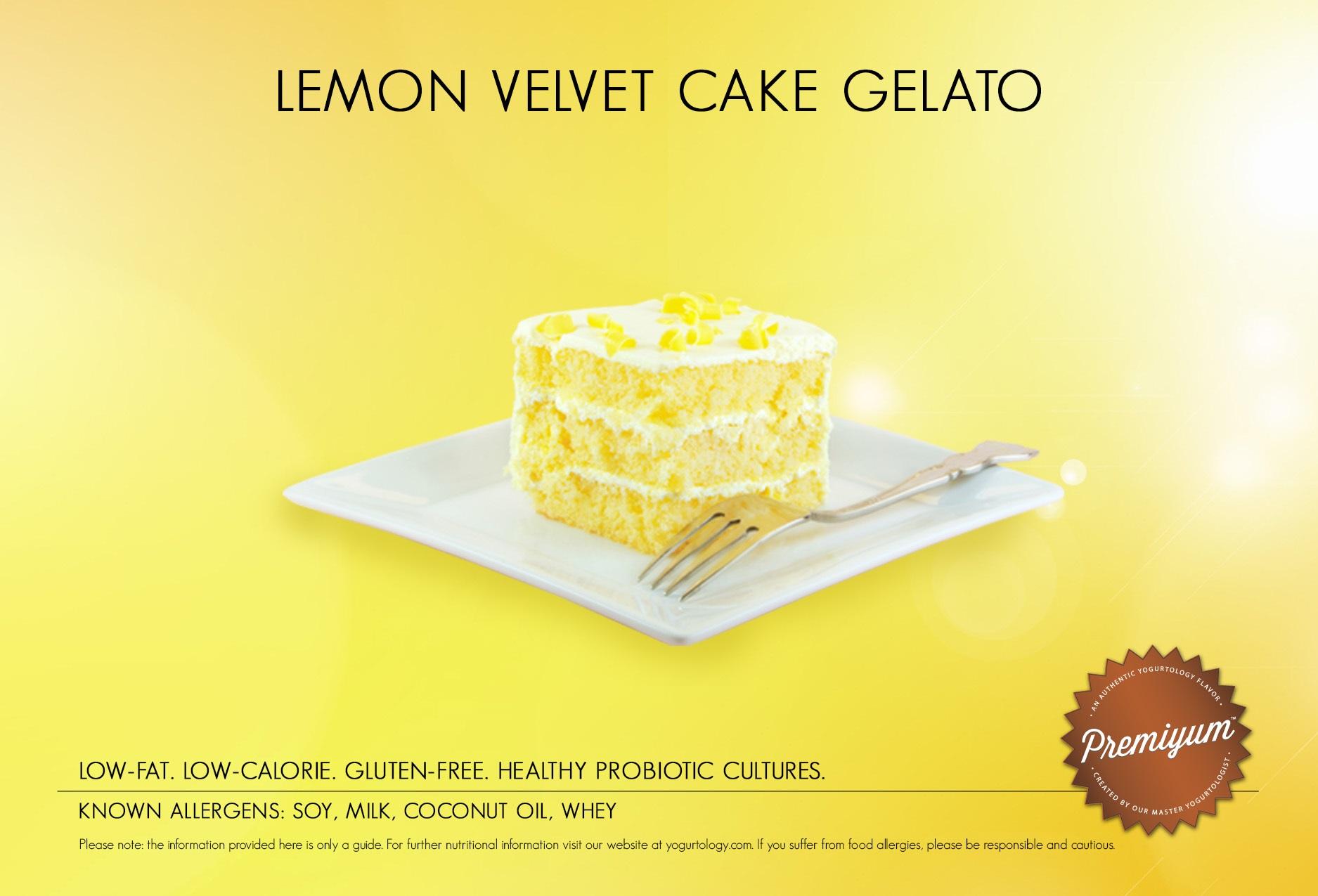 Lemon Velvet Cake Gelato | Yogurtology®