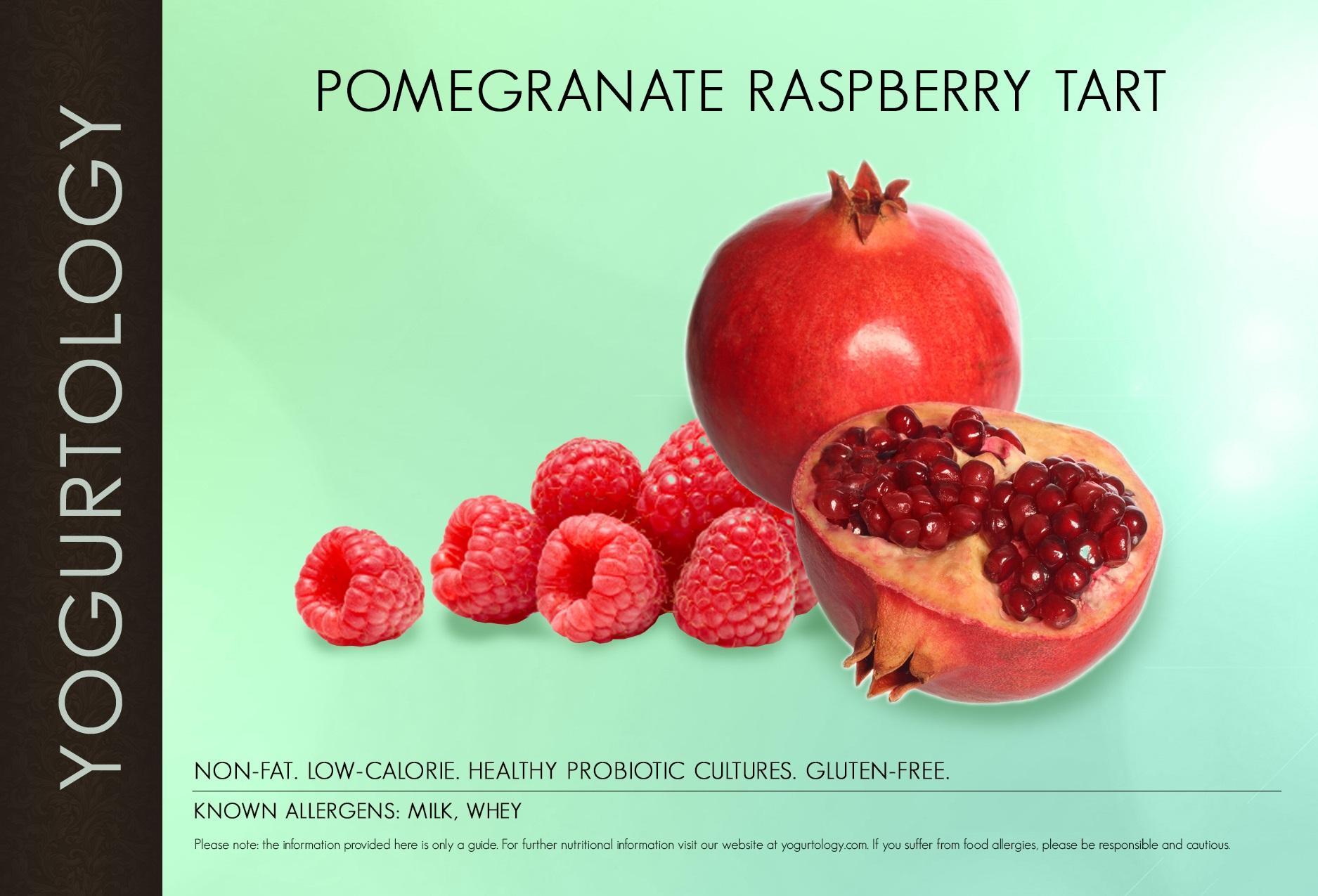 Pomegranate Raspberry Tart